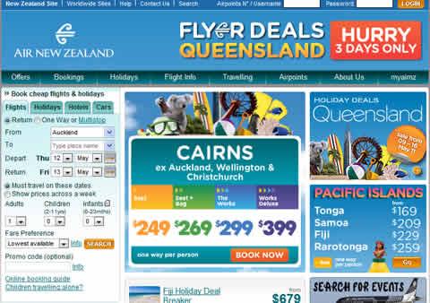 air new zealand website