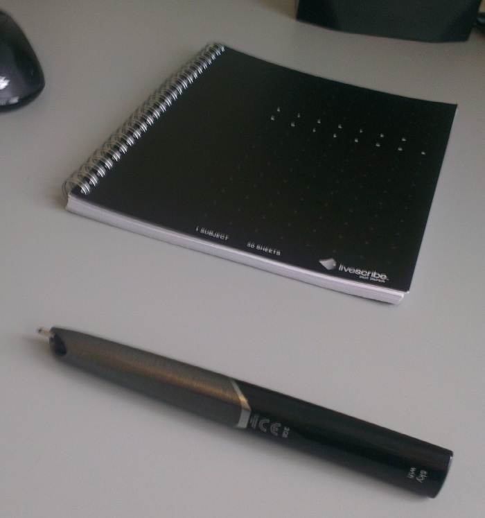 Livescribe Sky and the starter notebook