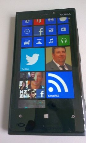 Glossy black cover, customised home screen tiles on my Lumia 920