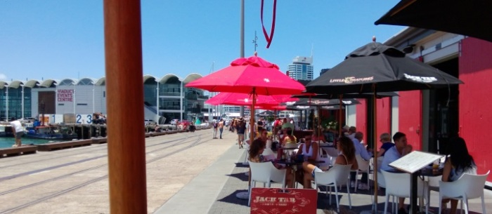 Sitting down at Jack Tar in the Wynyard Quarter