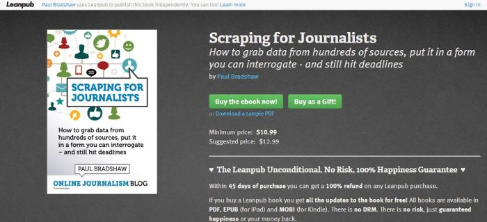 Leanpub ebook publishing