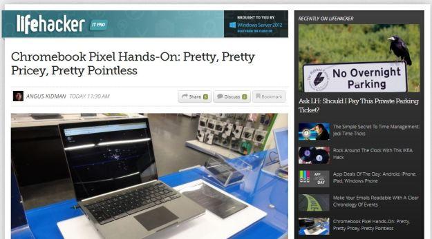 Lifehacker Australia gets a sneak preview of the Chromebook Pixel