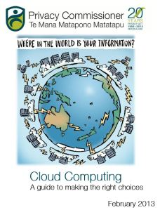 Privacy Commissioner Cloud Computing guide
