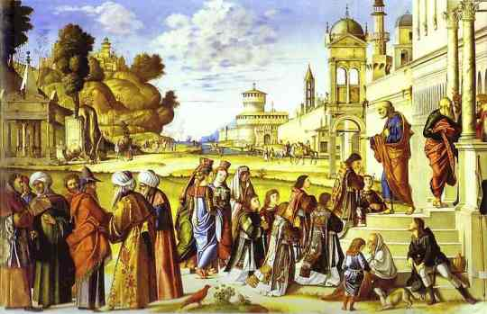 Vittore Carpaccio - The Ordination of St Stephen as Deacon