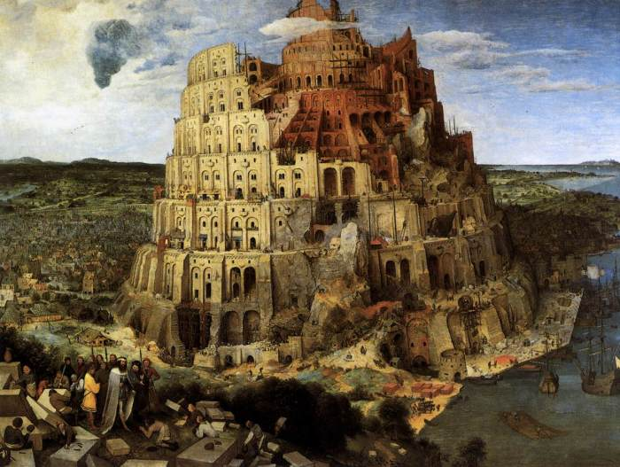 They don't make stacks like they used to - The Tower of Babel by Bruegel