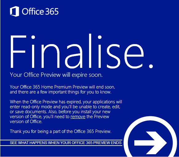 Microsoft wants users to buy a full Office 365 subscription