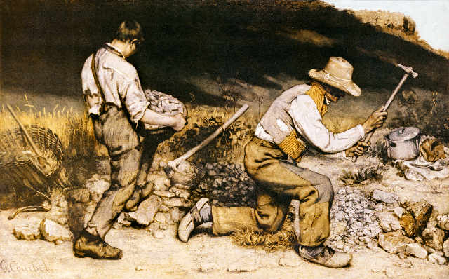 G.Courbet, Die Steinklopfer/ 1849 - Courbet / The Stonebreakers / 1849 -