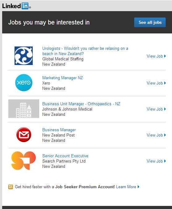 Linkedin's 'Jobs you may be interested in' are incredibly inappropriate given my profile and experience. Is is this bad for everyone?