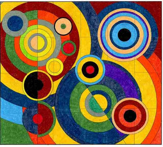 Joie De Vivre by Robert Delaunay  from the Orphism art movement