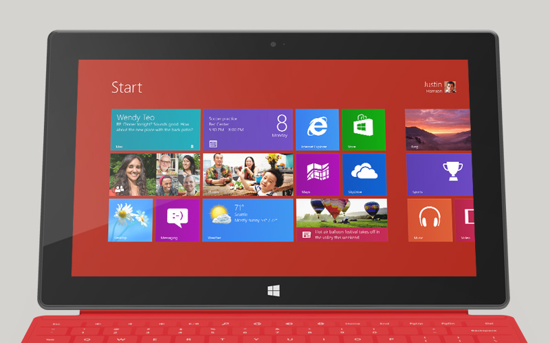 Windows 8 red