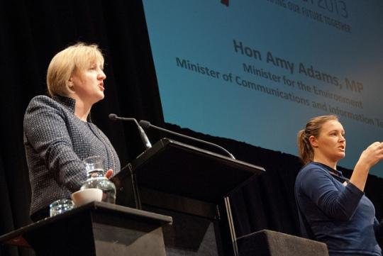 Communications minister Amy Adams addresses NetHui