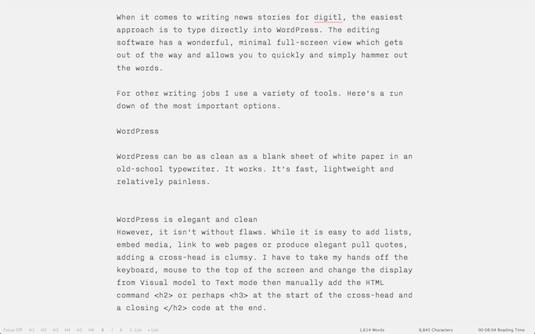 iA Writer Mac OS X