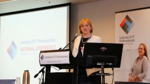 IT Minister Amy Adams speaking at the IITP 2013 conference