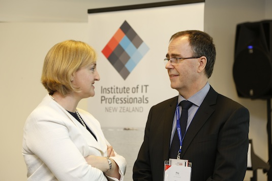 IT Minister Amy Adams with IITP Chair Ray Delany