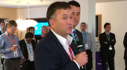 Telecom Retail CEO Chris Quin at Telecom NZ 4G launch