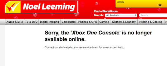 Initial stocks of Xbox One sold out fast