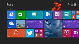 Surface Pro 2 start menu