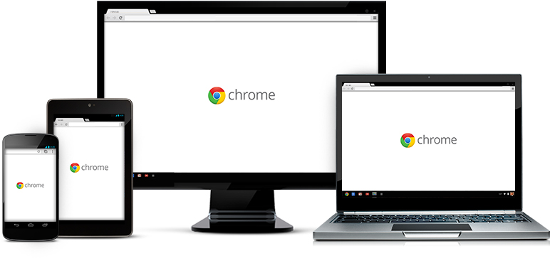Chrome on smartphone, tablet, PC, Chromebook