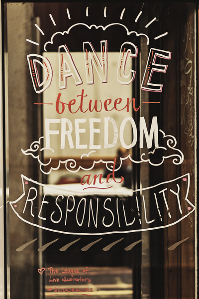 Dance between freedom and responsibility