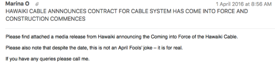 Hawaii cable contract