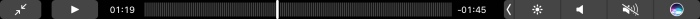 Touch Bar when a video is playing in Safari